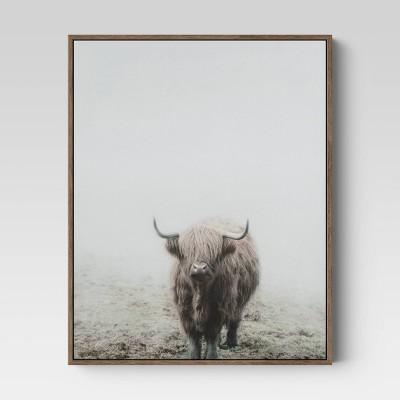 "16"" X 20"" Highland Cow Framed Wall Canvas - Threshold™"