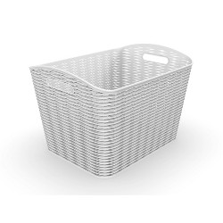26L Wave Design Curved Basket Gray - Room Essentials™