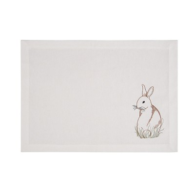 C&F Home Easter Bunny Cotton Embroidered Placemat Set of 6