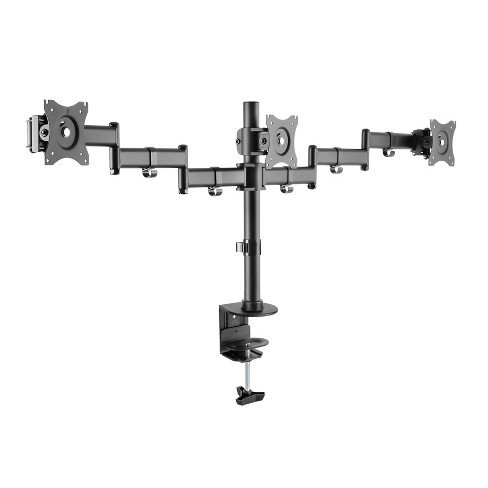 Triple Monitor Desk Mount Black - Rocelco - image 1 of 4