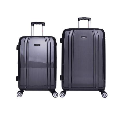 "InUSA SouthWorld 2pc Hardside Spinner Luggage Set (23""&27"")- Dark Gray Brush"