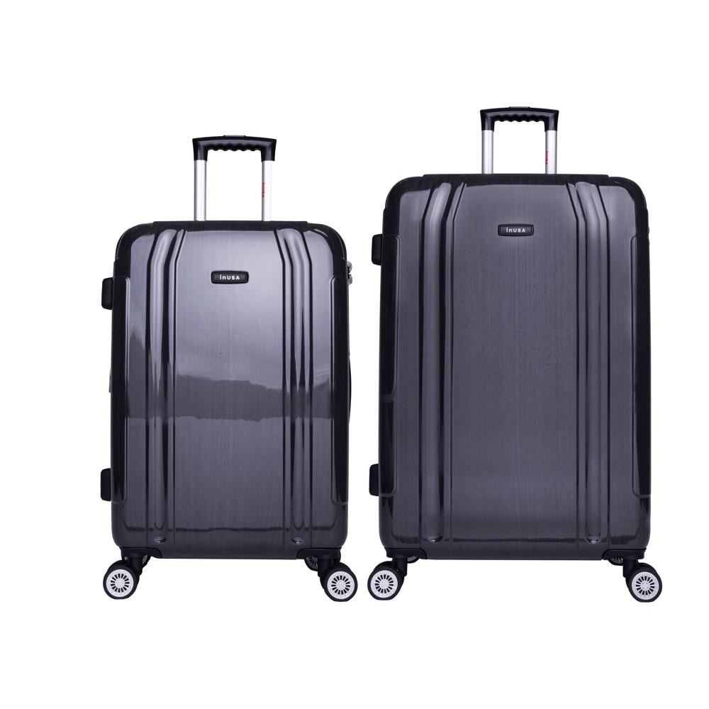 InUSA SouthWorld 2pc Hardside Spinner Luggage Set 23