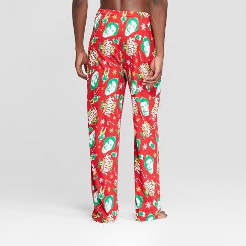 81652e9815 Men s Elf Santa Pajama Pants - Red   Target
