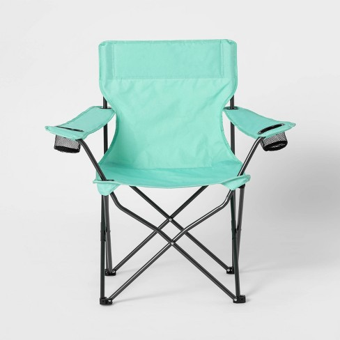Adult Novelty Quad Chair Solid Teal - Sun Squad™ - image 1 of 4