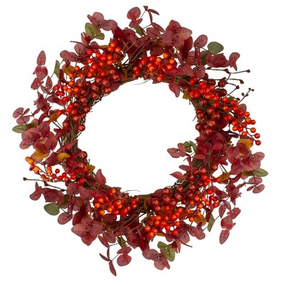 Northlight Red Berries Artificial Christmas Wreath - 24-Inch, Unlit