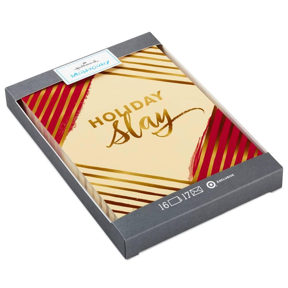 Image of 16ct Hallmark Holiday Slay Christmas Greeting Cards