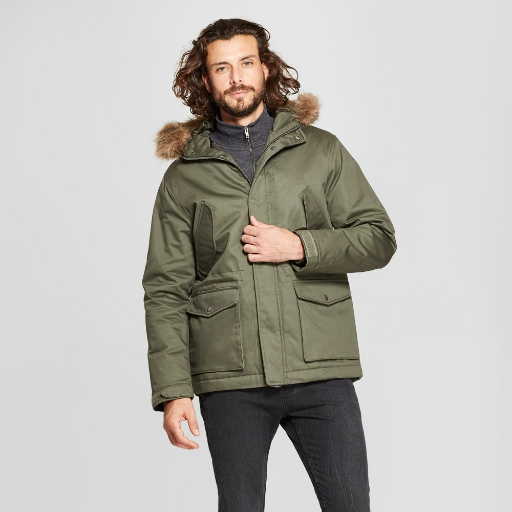 Men's Cotton Winter Military Jacket - Goodfellow & Co Olive 2XL, Green