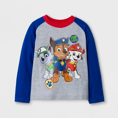 Nickelodeon Toddler Boys' PAW Patrol Long Sleeve T-Shirt - Heather Gray 4T