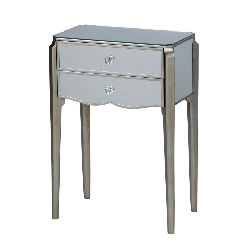 2 Drawer Side Table Silver - Stylecraft - image 1 of 1
