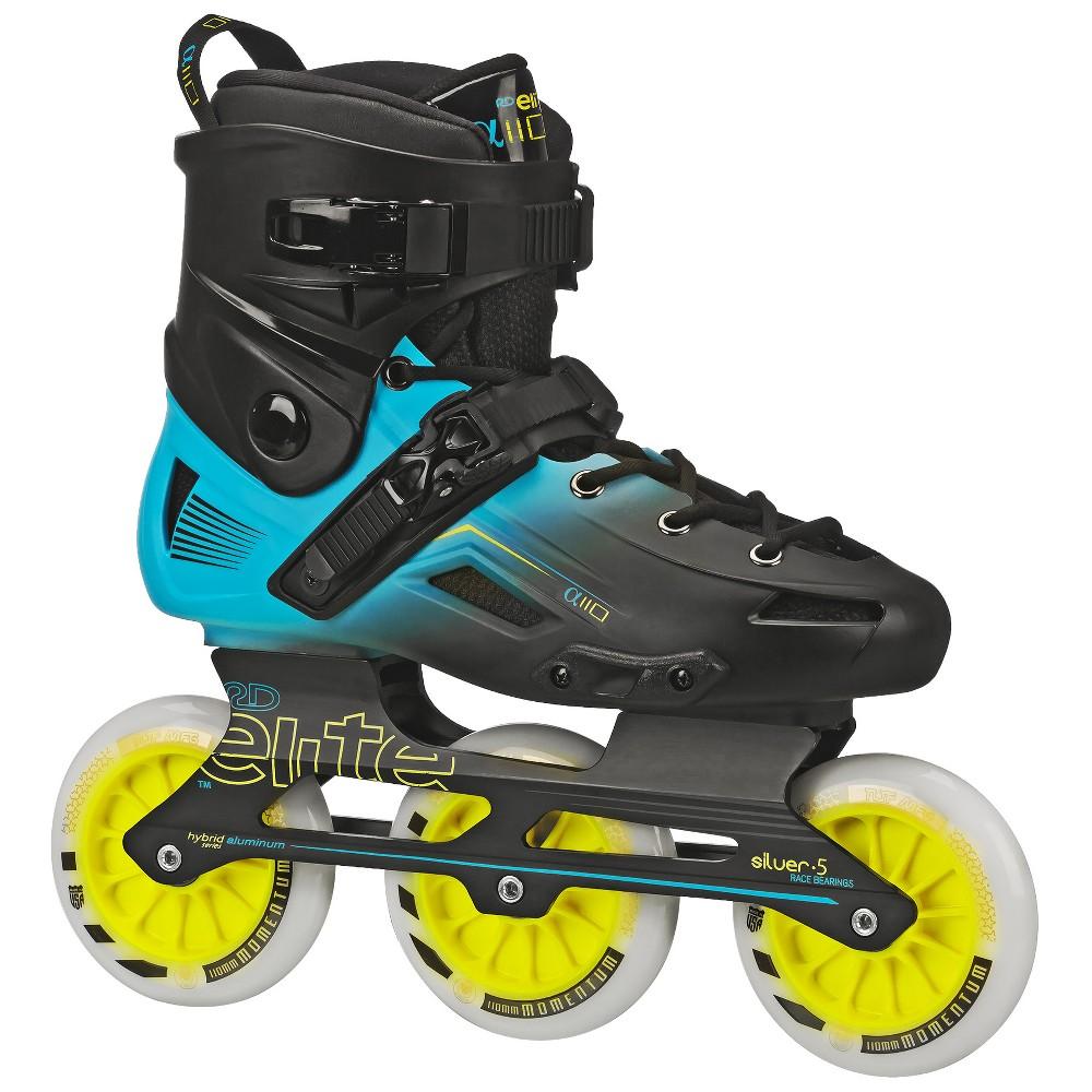 Roller Derby Elite Alpha 110mm 3-wheel Inline Skate Size 10, Blue Black