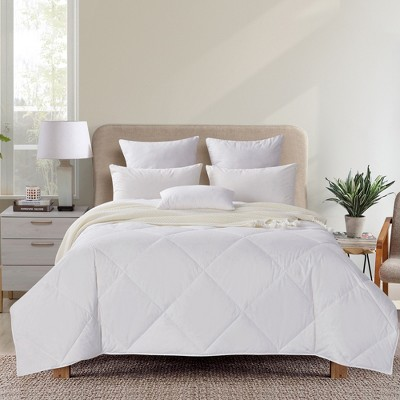 Puredown Lightweight Quilted 50% White Goose Down Feather Comforter
