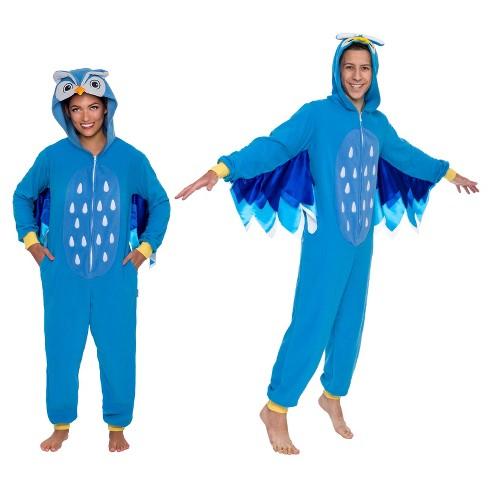Funziez! Owl Slim Fit Adult Unisex Novelty Union Suit - image 1 of 4