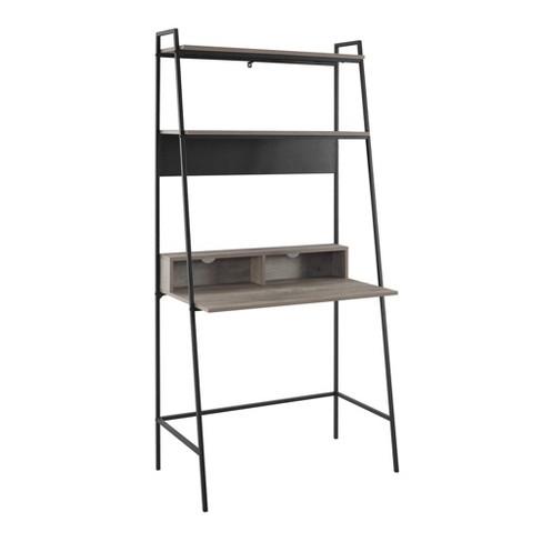 wholesale dealer 2931d 09801 Urban Industrial Metal and Wood Ladder Desk - Saracina Home