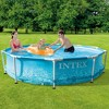 Intex 28206EH 10-Ft x 30-In Rust Resistant Steel Metal Frame Outdoor Backyard Above Ground Circular Beachside Swimming Pool with Reinforced Sidewalls - image 4 of 4