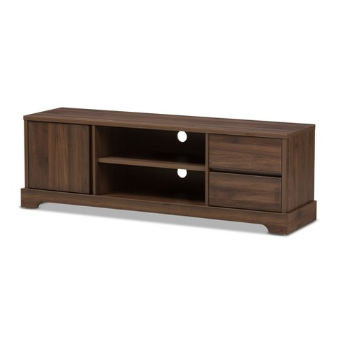 . Burnwood Modern and Contemporary Walnut Finished Wood TV Stand Brown    Baxton Studio