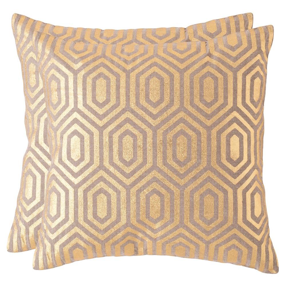 Gold Set Throw Pillow - Safavieh