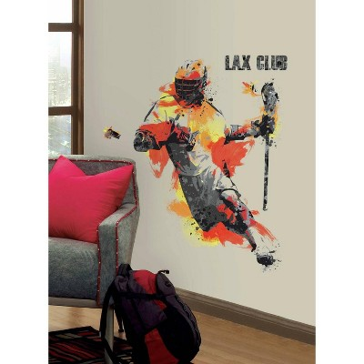 Men's Lacrosse Champion Peel and Stick Giant Wall Decal - RoomMates