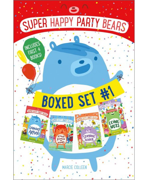 Super Happy Party Bears : Gnawing Around; Knock Knock on Wood; Staying a Hive; Going Nuts (Paperback) - image 1 of 1