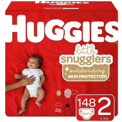 Huggies Little Snugglers Diapers Huge Pack - Size 2 (148ct)