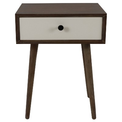 Melvin Mid Century Modern Storage Accent Table Driftwood - Décor Therapy