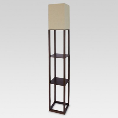 Shelf Floor Lamp Brown Includes Energy Efficient Light Bulb - Threshold™