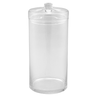 Diamond Star Glass Apothecary Jar with Lid Clear (14 x6.5 )