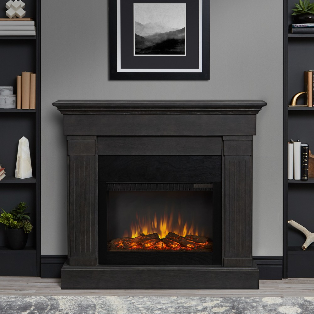 Real Flame Crawford Indoor Electric Fireplace - Gray