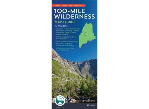 Appalachian Mountain Club 100-Mile Wilderness Map & Guide -  MAP (Paperback) - image 1 of 1
