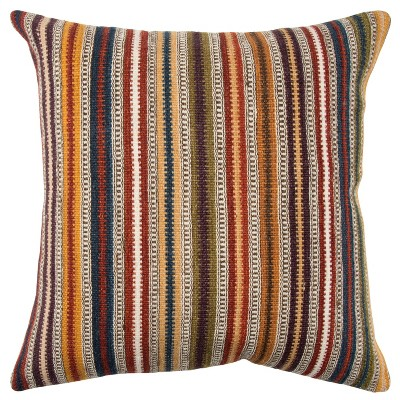 "20""x20"" Oversize Striped Square Throw Pillow Cover - Rizzy Home"