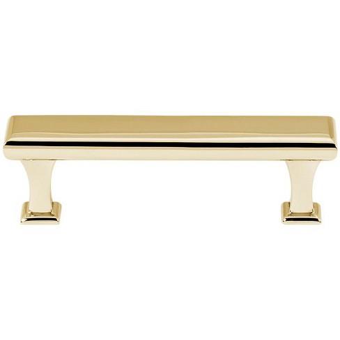 Alno A310 35 Manhattan 3 1 2 Center To Center Bar Cabinet Pull Unlacquered Brass Target