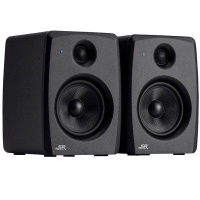 Monoprice SV25 5in Powered Studio Monitors (Pair) Bi-Amplified Design, Consistent Mix Transfer, Class AB Amp - Stage Right Series