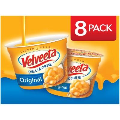 Velveeta Shells & Cheese Original Single Server Microwave Cups - 19.12oz/8pk