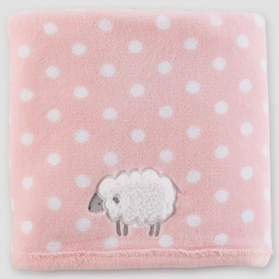 Baby Girls' Fluffy Fleece Blanket - Just One You® made by carter's Pink Sheep One Size