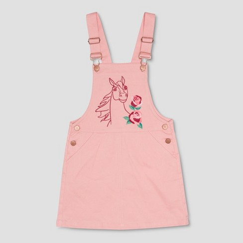 Girls' Spirit Riding Free Big Flower Spirit Overall Dress - Light Pink - image 1 of 2