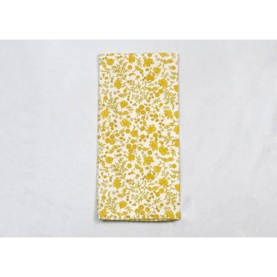 Cotton Floral Kitchen Towel Yellow - Threshold™