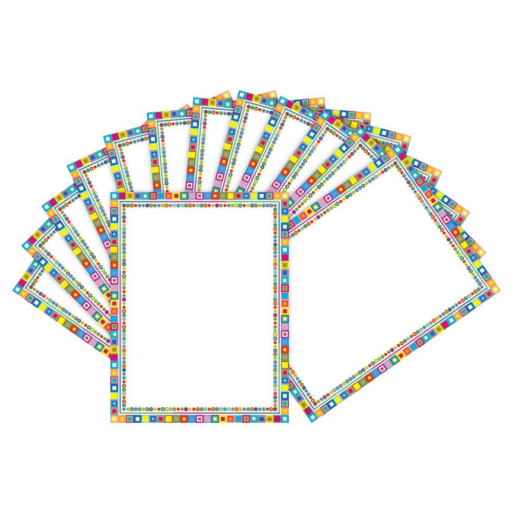 Barker Creek 2pk Printer Paper 100ct - Colorful Squares, White