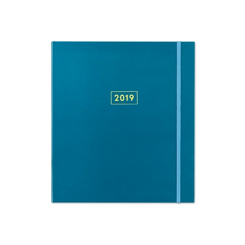 "2019 Planner 8""x10"" Peacock Woodgrain with Bungee - Blue Sky - image 1 of 3"