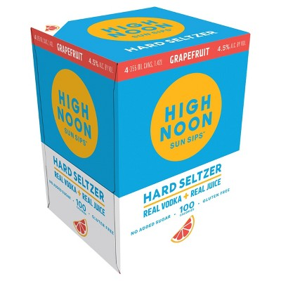 High Noon Grapefruit Vodka Hard Seltzer - 4pk/355ml Cans