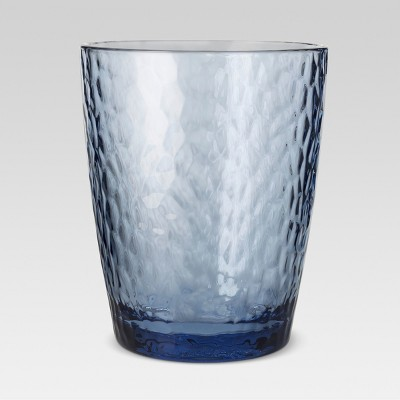 Plastic Textured Short Tumbler 13oz Blue - Threshold™
