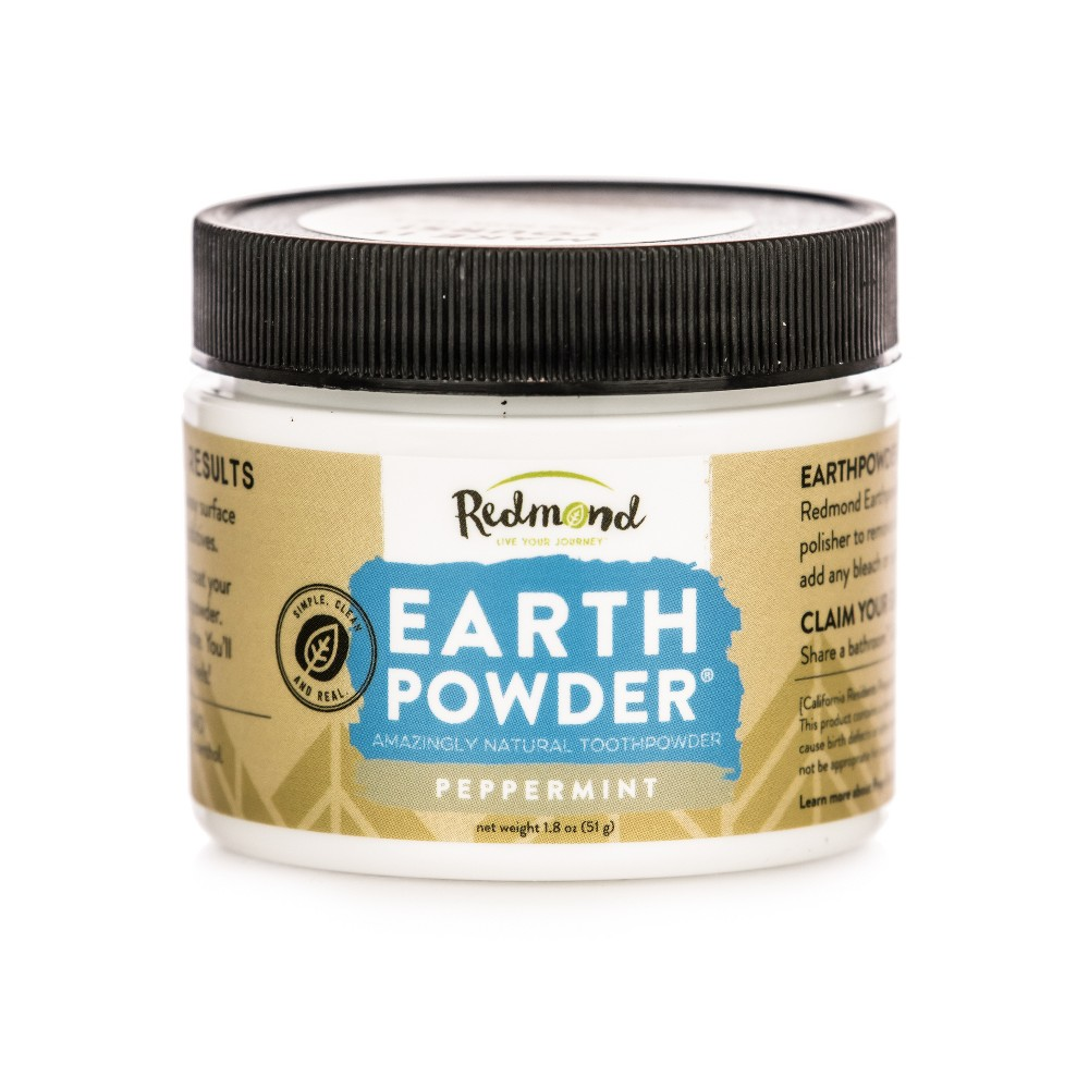 Image of Redmond Earthpowder Peppermint Toothpowder - 1.8oz