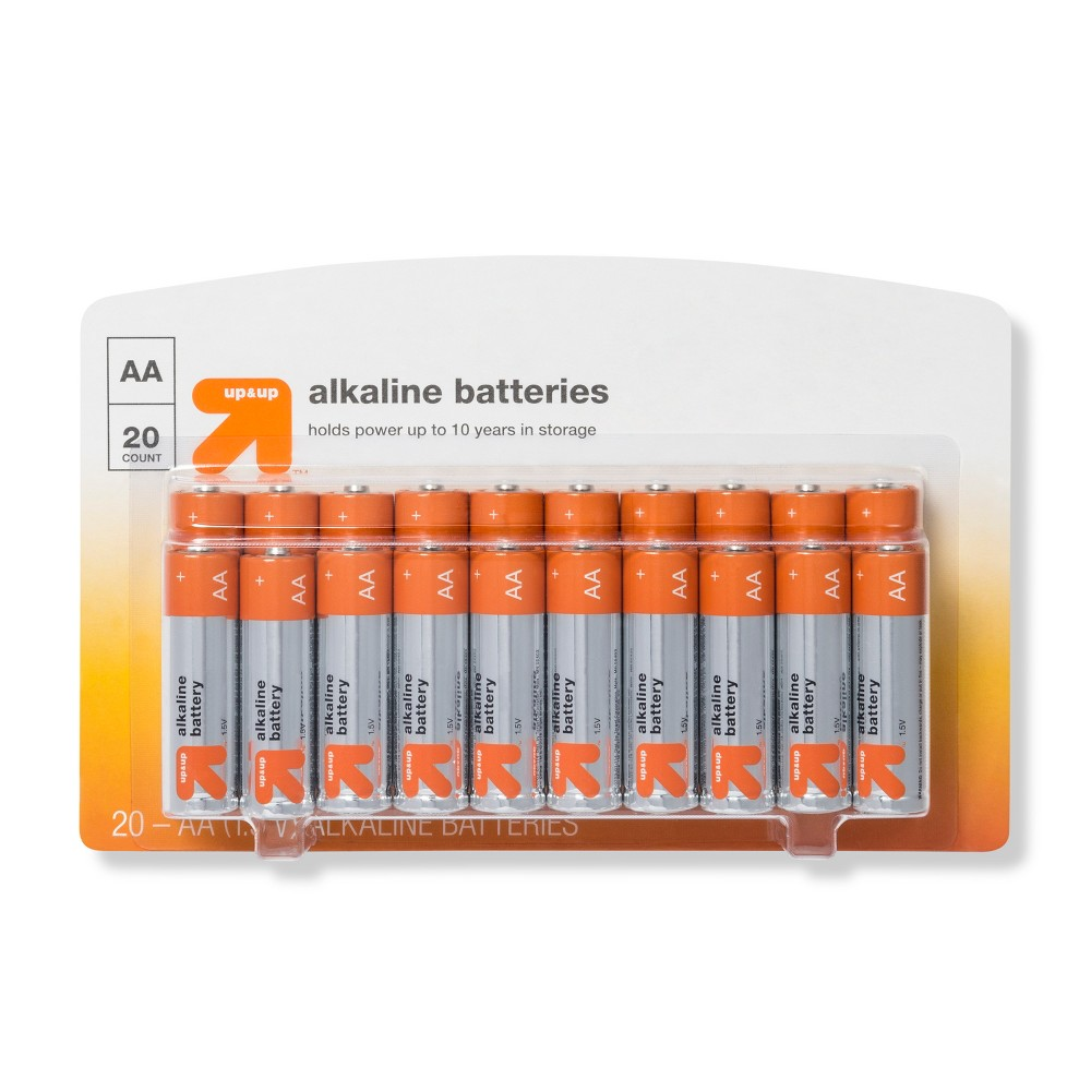 AA Batteries - 20ct - Up&Up AA Batteries - 20ct - UpandUp