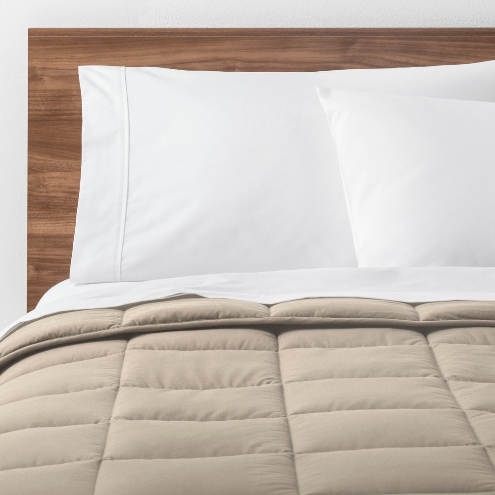 Natural Solid Down Alternative Comforter (Full/Queen) - Made By Design