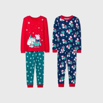 Toddler Girls' Peppa Pig 4pc Pajama Set - 5T