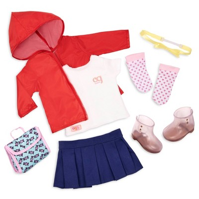 """Our Generation School Fashion Outfit for 18"""" Dolls - Rainy Recess"""