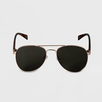 Men's Aviator Metal Sunglasses - Goodfellow & Co™ Gold