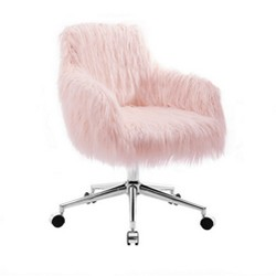 Fiona Chrome Base Office Chair Pink - Linon