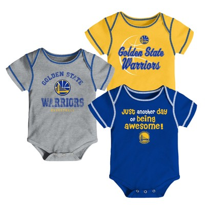 Golden State Warriors Baby Boys' 3pk Bodysuit Set 12 M