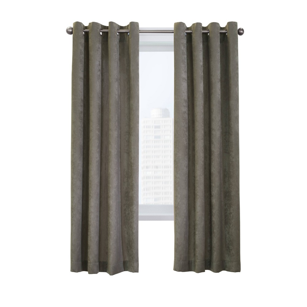 108 34 X52 34 Falkland Grommet Top Light Filtering Curtain Panel Gray Habitat