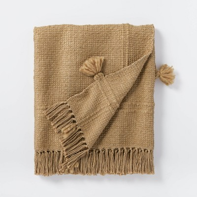 Woven Cotton Acrylic Throw Blanket Brown - Threshold™ designed with Studio McGee