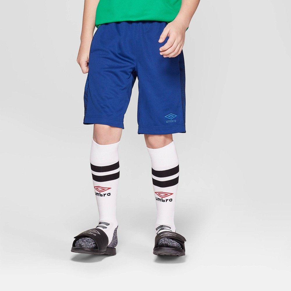 Umbro Boys' Knit Performance Shorts - Blue M
